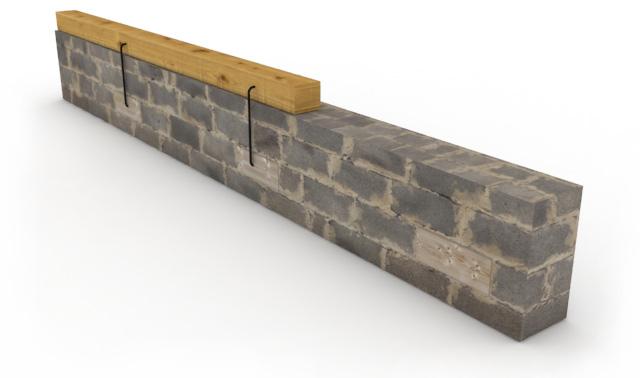 Как закрепить мауэрлат к кирпичной стене