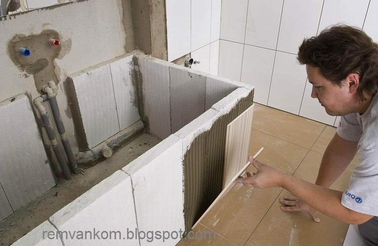 Ванная из кирпича (фото)