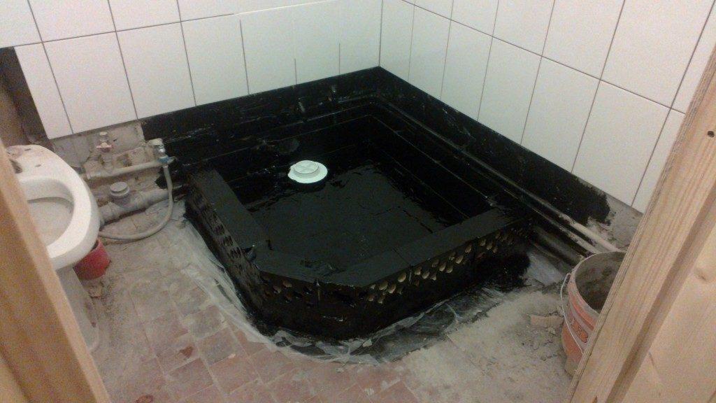 Гидроизоляция ванны из кирпича